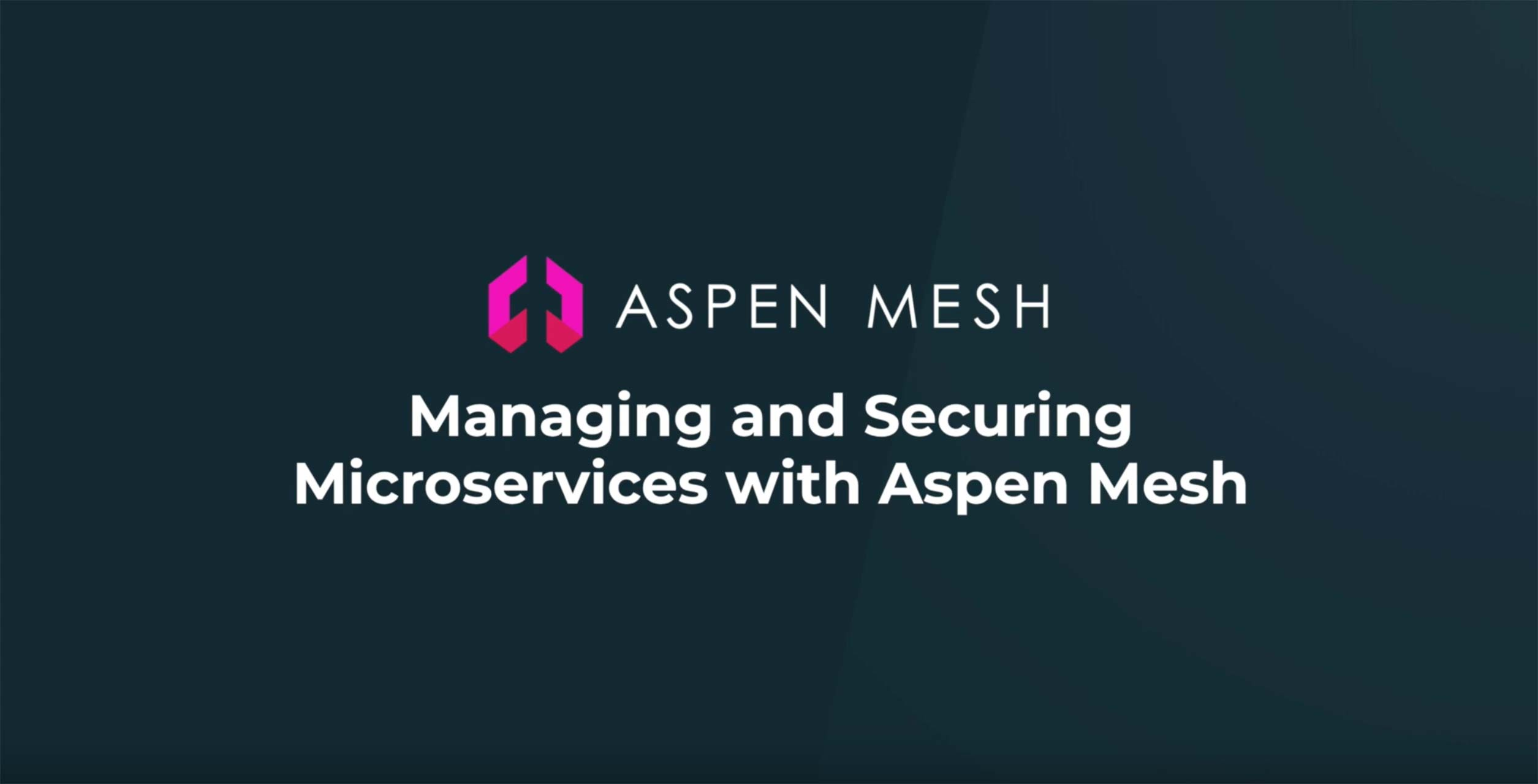 Managing and Securing Microservices with Aspen Mesh Service Mesh
